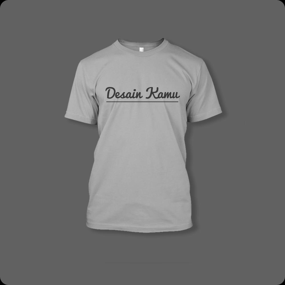 T-shirt Abu-abu Custom Order